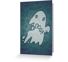 Halloween Card with Spooky Boo! Greeting Card