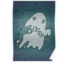 Halloween Card with Spooky Boo! Poster