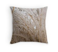 Icy Grass Sculptures Throw Pillow