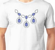 Three Pear Sapphire Necklace Unisex T-Shirt