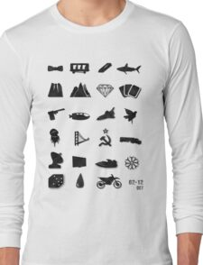 50 Years of James Bond Long Sleeve T-Shirt