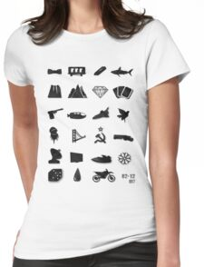 50 Years of James Bond Womens Fitted T-Shirt