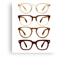 Warby Parker Glasses – Sepia Canvas Print