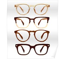 Warby Parker Glasses – Sepia Poster
