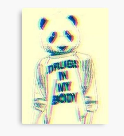Drugs in my body Canvas Print