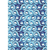 abstract pattern with waves  Photographic Print