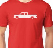 Lowered truck for Chevrolet C10 Crew cab short bed pickup 3rd Gen 1973-1987 enthusiasts Unisex T-Shirt