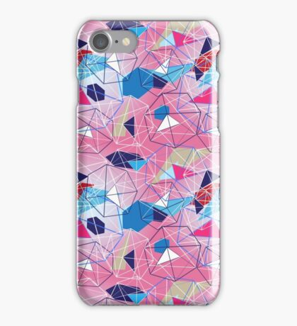 abstract pattern of geometric shapes iPhone Case/Skin