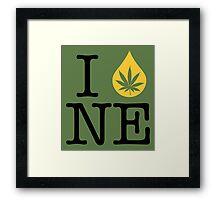 I Dab NE (Nebraska) Framed Print