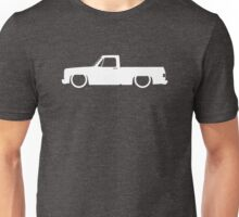 Lowered truck for Chevrolet C10 Short bed pickup 3rd Gen 1973-1987 enthusiasts Unisex T-Shirt