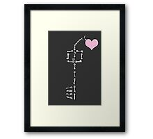 Keyblade To Your Heart (Kingdom Hearts) Framed Print