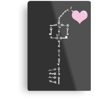 Keyblade To Your Heart (Kingdom Hearts) Metal Print