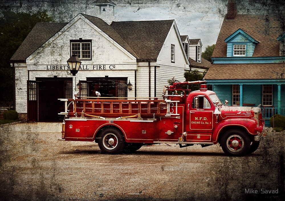 Fireman - Newark fire company by Mike  Savad