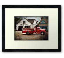 Fireman - Newark fire company Framed Print