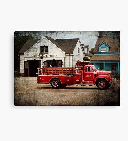 Fireman - Newark fire company Canvas Print