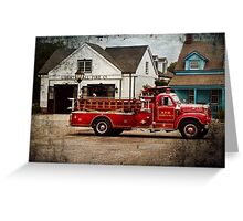 Fireman - Newark fire company Greeting Card