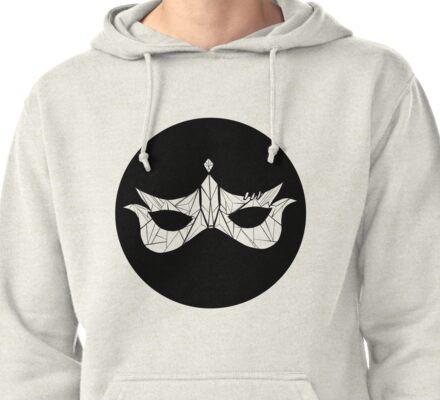 Tagonist Mask--Black Pullover Hoodie