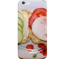 Open Salad Sandwich iPhone Case/Skin