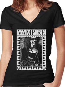 Retro Vampire: The Masquerade Women's Fitted V-Neck T-Shirt