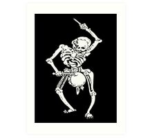 Zombie Undead Skeleton Marching and Beating A Drum Art Print