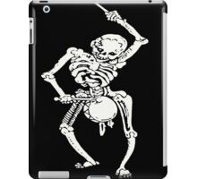 Zombie Undead Skeleton Marching and Beating A Drum iPad Case/Skin