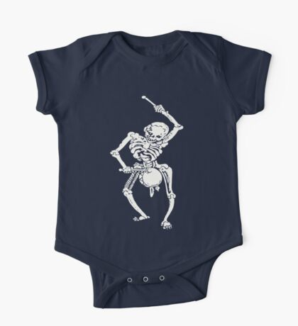 Zombie Undead Skeleton Marching and Beating A Drum One Piece - Short Sleeve