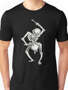 Zombie Undead Skeleton Marching and Beating A Drum Unisex T-Shirt