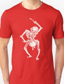 Zombie Undead Skeleton Marching and Beating A Drum T-Shirt