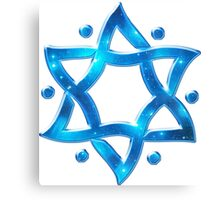 Star of David, ✡, Hexagram, Israel, Judaism, Space Canvas Print