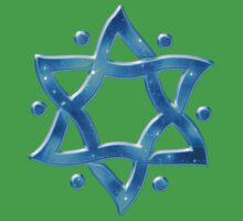 Star of David, ✡, Hexagram, Israel, Judaism, Space Kids Clothes