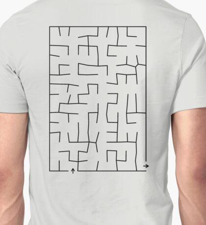 Fun Maze Design Massage Shirt Unisex T-Shirt
