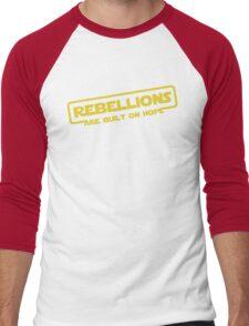"""Star Wars - """"Rebellions are built on hope!""""  Men's Baseball ¾ T-Shirt"""