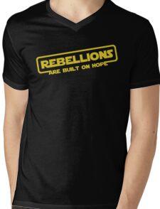 """Star Wars - """"Rebellions are built on hope!""""  Mens V-Neck T-Shirt"""