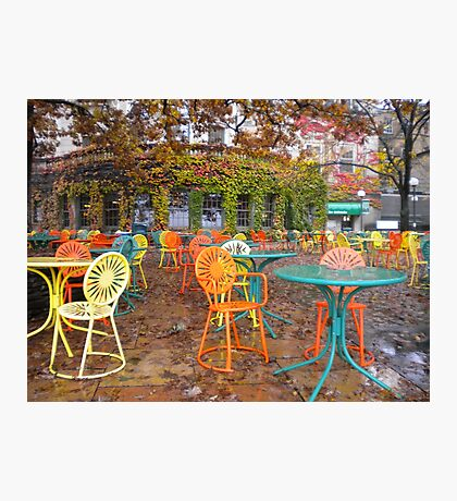 Autumn on the Terrace Photographic Print