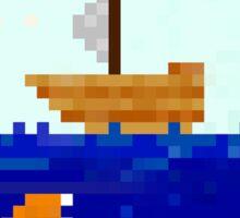 Pixel Ship Tales Sticker
