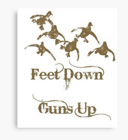 Feet Down Guns Up by Funny As Duck Canvas Print
