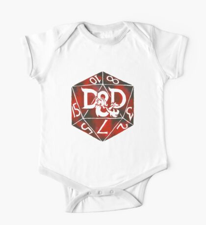 Hand Painted Watercolor DnD D20 One Piece - Short Sleeve