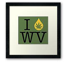 I Dab WV (West Virginia) Framed Print