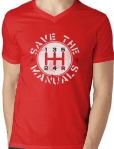 Save The Manual Transmission Mens V-Neck T-Shirt