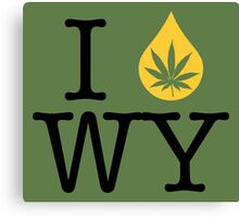 I Dab WY (Wyoming) Canvas Print