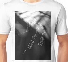 The feather of my pen Unisex T-Shirt