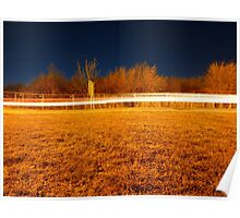 Fen road at night Poster