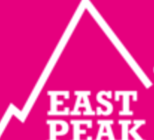East Peak Apparel - Pink Square Small Logo Sticker
