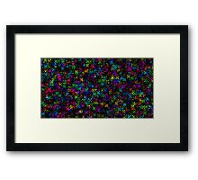 Abstract Neon Flower Pattern Framed Print