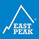 East Peak Apparel - Blue Square Large Logo by springwoodbooks