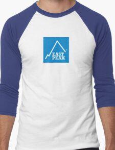 East Peak Apparel - Blue Square Large Logo Men's Baseball ¾ T-Shirt