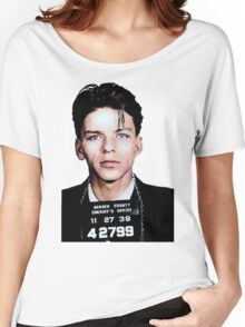 Frank Sinatra Mugshot Colorized Women's Relaxed Fit T-Shirt