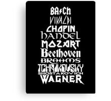 Composers Canvas Print