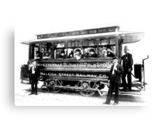 Raleigh Streetcar Canvas Print
