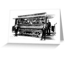 Raleigh Streetcar Greeting Card